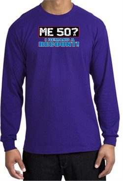 Image of 50th Birthday Long Sleeve Shirt Funny Me 50 Years Purple Longsleeve
