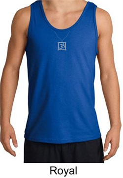 Image of Mens Yoga Tank Top ? Aum Charm Meditation Adult Tanktop