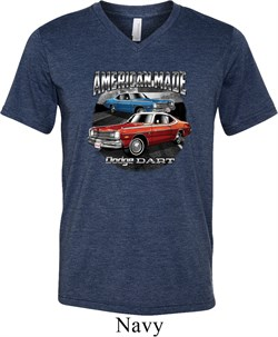 Image of Mens American Made Dodge Dart Tri Blend V-neck Shirt