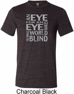 Image of Mens An Eye for an Eye Tri Blend Tee