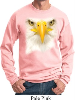 Image of Mens Bald Eagle Sweatshirt Big Bald Eagle Face Sweat Shirt