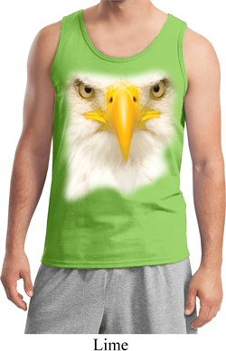 Image of Mens Bald Eagle Tanktop Big Bald Eagle Face Tank Top