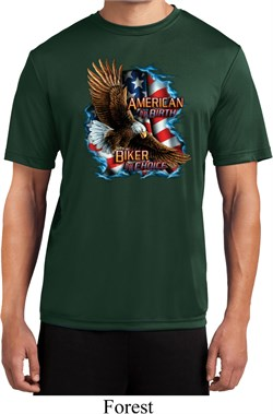 Image of Mens Biker Shirt American By Birth Moisture Wicking Tee