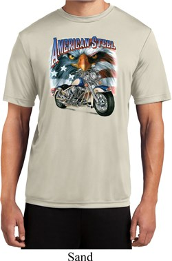 Image of Mens Biker Shirt American Steel Moisture Wicking Tee T-Shirt