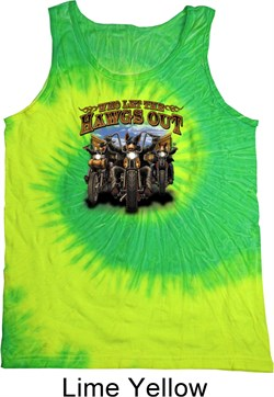 Image of Mens Biker Shirt Who Let The Hawgs Out Tank Tie Dye Tee T-shirt