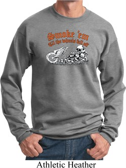 Image of Mens Biker Sweatshirt Smoke Em Sweat Shirt