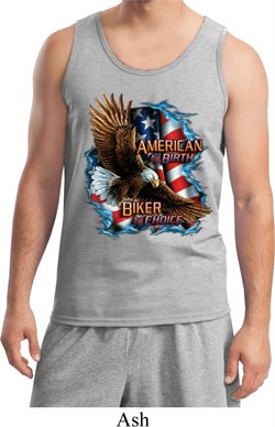 Image of Mens Biker Tanktop American By Birth Tank Top