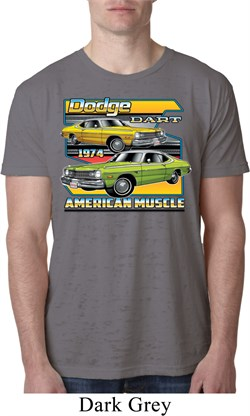 Image of Mens Dodge Shirt Dodge Dart Burnout Tee T-Shirt
