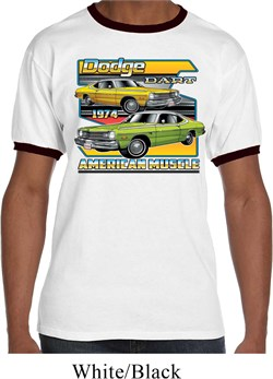 Mens Dodge Shirt Dodge Dart Ringer Tee T-Shirt