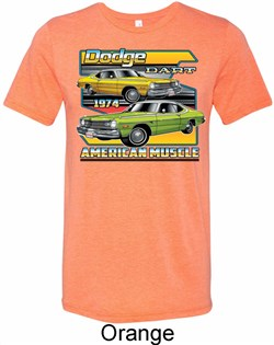 Mens Dodge Shirt Dodge Dart Tri Blend Crewneck Tee T-Shirt