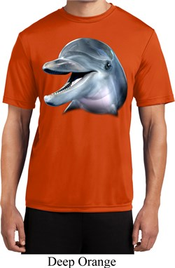 Mens Dolphin Shirt Big Dolphin Face Moisture Wicking Tee T-Shirt