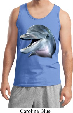 Mens Dolphin Tanktop Big Dolphin Face Tank Top