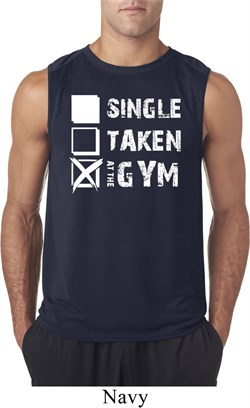 Image of Mens Fitness Shirt Single Taken At The Gym Sleeveless Tee T-Shirt