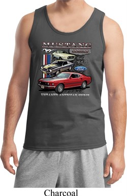 Image of Mens Ford Classic Mustangs Untamed Tank Top