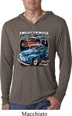 Image of Mens Ford Shirt American Made Lightweight Hoodie Shirt