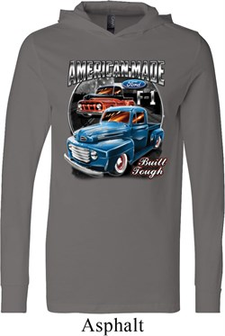 Image of Mens Ford Shirt American Made Lightweight Hoodie Tee