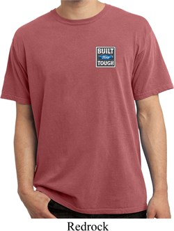 Image of Mens Ford Shirt Built Ford Tough Pocket Print Pigment Dyed Tee T-Shirt