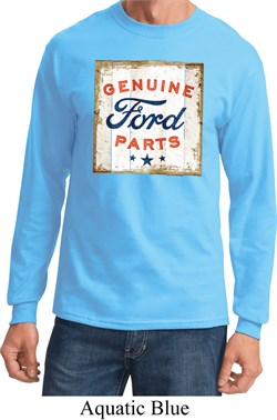 Image of Mens Ford Shirt Distressed Genuine Ford Parts Long Sleeve Tee T-Shirt