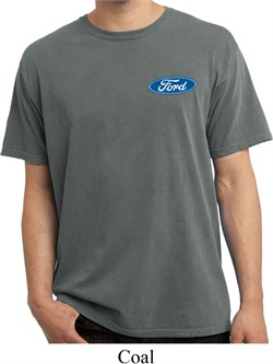 Image of Mens Ford Shirt Ford Oval Pocket Print Pigment Dyed Tee T-Shirt