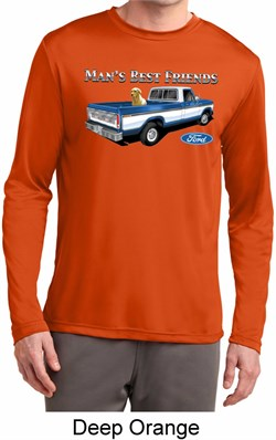 Image of Mens Ford Shirt Mans Best Friend Dry Wicking Long Sleeve Shirt