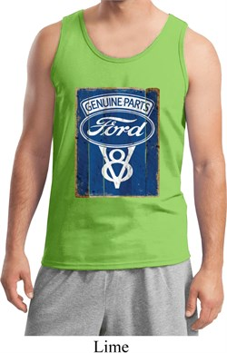 Image of Mens Ford Tanktop V8 Genuine Ford Parts Tank Top