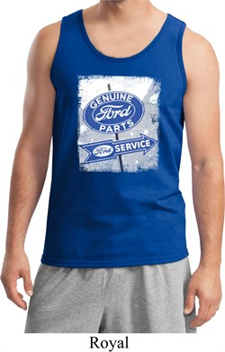 Image of Mens Ford Tanktop Vintage Sign Genuine Ford Parts Tank Top