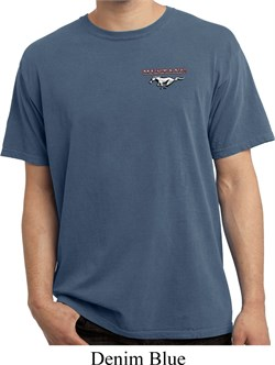 Image of Mens Ford Tee Mustang Pocket Print Pigment Dyed T-shirt