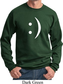 Image of Mens Funny Sweatshirt Smiley Chat Face Sweat Shirt