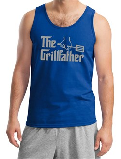 Mens Funny Tanktop The Grill Father Tank Top