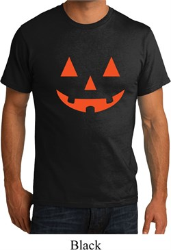 Image of Mens Halloween Shirt Orange Jack O Lantern Organic Tee T-Shirt
