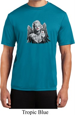 Mens Marilyn Monroe Shirt Butterfly Moisture Wicking Tee T-Shirt