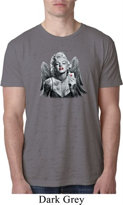 Mens Marilyn Monroe Shirt Marilyn Butterfly Burnout Tee T-Shirt