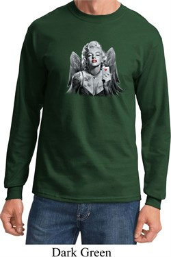 Mens Marilyn Monroe Shirt Marilyn Butterfly Long Sleeve Tee T-Shirt