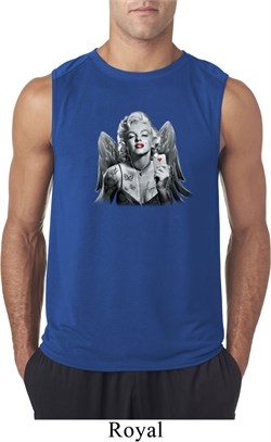 Mens Marilyn Monroe Shirt Marilyn Butterfly Sleeveless Tee T-Shirt