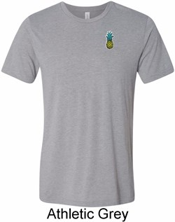 Image of Mens Pineapple Patch Pocket Print Tri Blend T-shirt