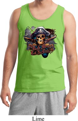 Image of Mens Pirate Tanktop Tell No Tales Pirate Tank Top