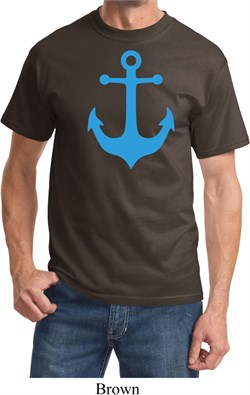 Mens Sailing Shirt Blue Anchor Tee T-Shirt