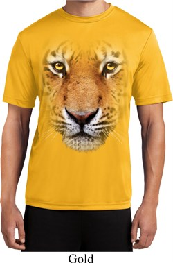 Mens Shirt Big Tiger Face Moisture Wicking Tee T-Shirt