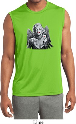 Mens Shirt Marilyn Butterfly Sleeveless Moisture Wicking Tee T-Shirt