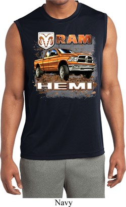 Image of Mens Shirt Ram Hemi Trucks Sleeveless Moisture Wicking Tee T-Shirt
