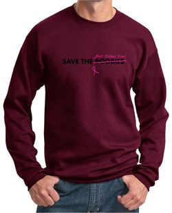 Image of Mens Sweatshirt Breast Cancer Awareness Best Pillows Ever Sweat Shirt