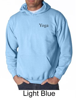 Mens Yoga Hoodie Sweatshirt Yoga Logo Pocket Print Adult Hoody