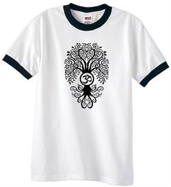 T-Shirt | Shirt | Black | Yoga | Tree | Ring | Tee | Men