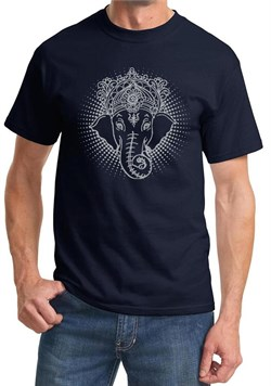 Mens Yoga Shirt Iconic Ganesha Tee T-Shirt