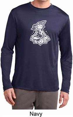 Image of Mens Yoga Shirt Krishna Dry Wicking Long Sleeve T-Shirt