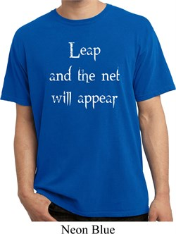 Image of Mens Yoga Shirt Leap Pigment Dyed Tee T-Shirt