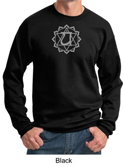 Mens Yoga Sweatshirt Anahata Heart Chakra Sweat Shirt