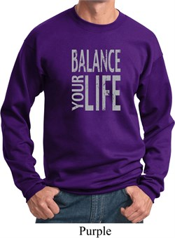 Image of Mens Yoga Sweatshirt Balance Your Life Sweat Shirt