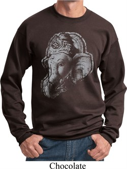 Image of Mens Yoga Sweatshirt BIG Ganesha Profile Sweat Shirt