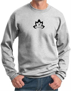 Image of Mens Yoga Sweatshirt Black Namaste Lotus Sweat Shirt